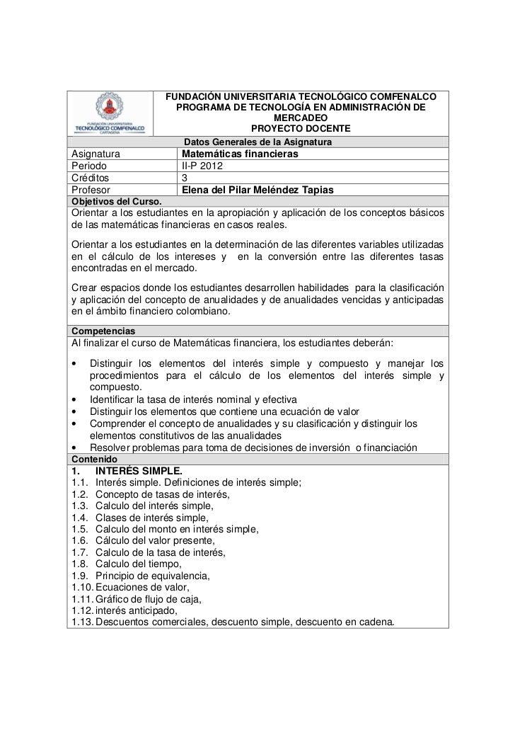 FUNDACIÓN UNIVERSITARIA TECNOLÓGICO COMFENALCO                         PROGRAMA DE TECNOLOGÍA EN ADMINISTRACIÓN DE        ...