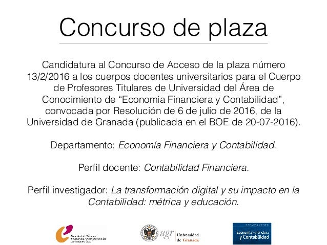 Proyecto docente para plaza de profesor titular de for Concurso de plazas docentes 2016