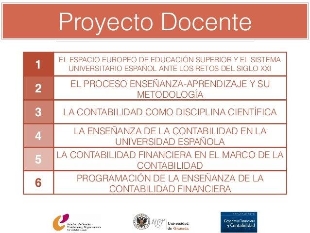 proyecto docente para plaza de profesor titular de