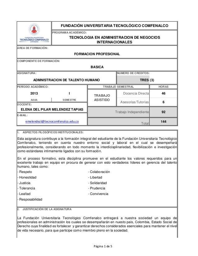 FUNDACIÓN UNIVERSITARIA TECNOLÓGICO COMFENALCO                       PROGRAMA ACADÉMICO:                                  ...