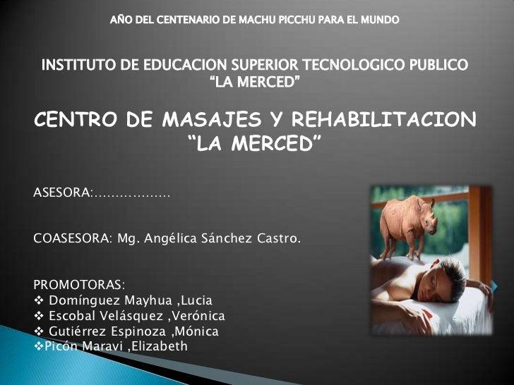 """AÑO DEL CENTENARIO DE MACHU PICCHU PARA EL MUNDO INSTITUTO DE EDUCACION SUPERIOR TECNOLOGICO PUBLICO                     """"..."""