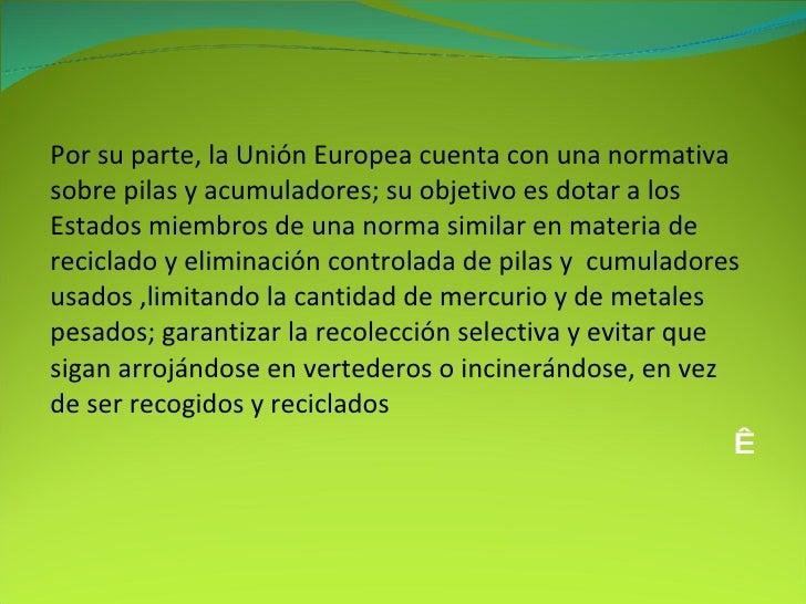 Proyecto ecologico pilas - Normativa detectores de metales ...
