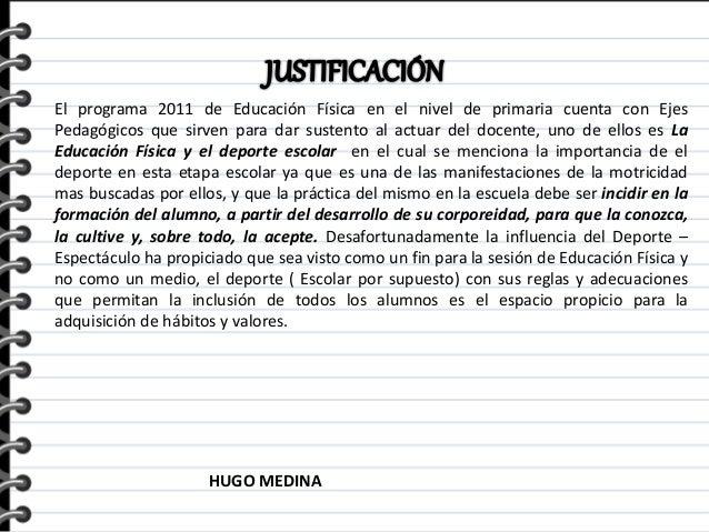 Ejemplo de proyecto educativo educaci n f sica etapa 2 for Proyecto para una cantina escolar