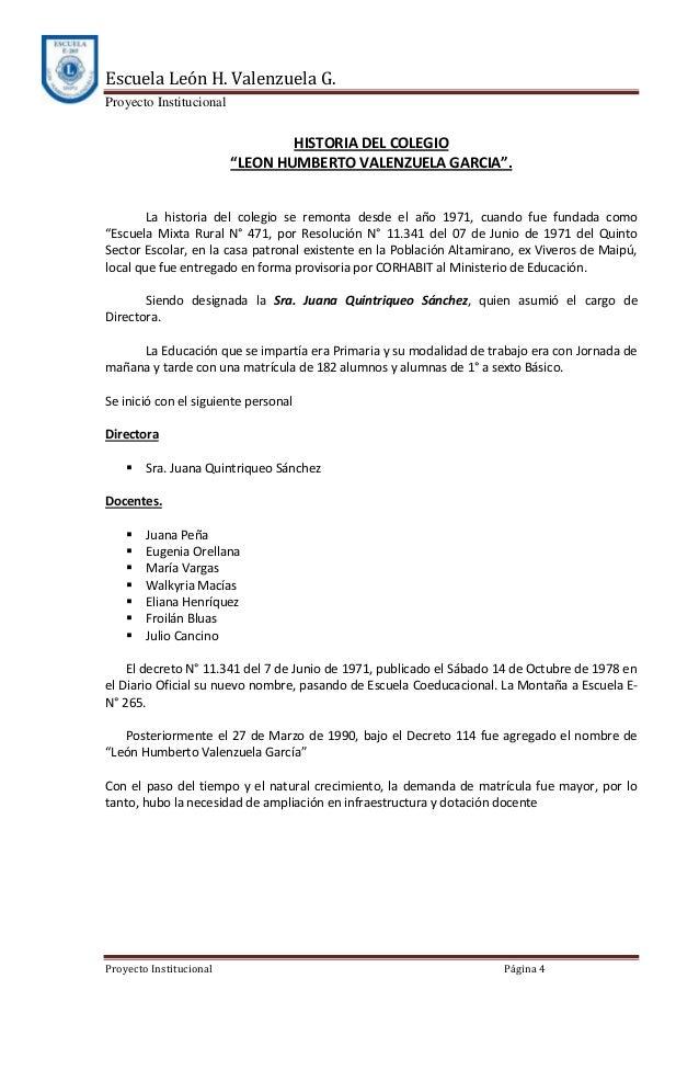 Proyecto escuela le n h valenzuela g for Viveros en maipu