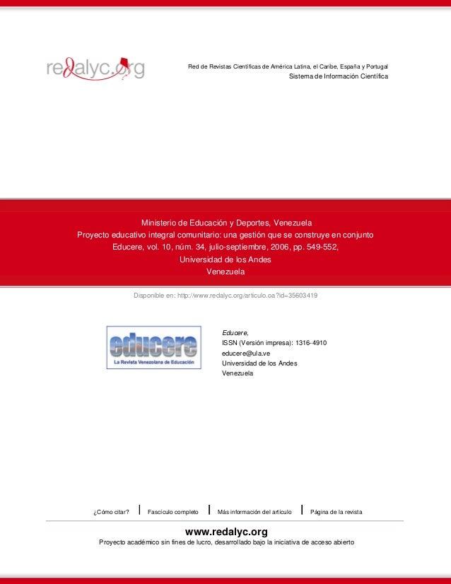 Red de Revistas Científicas de América Latina, el Caribe, España y Portugal                                               ...