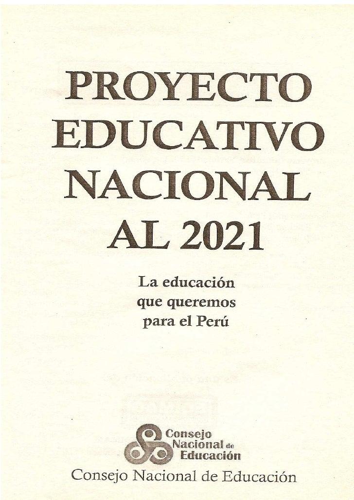 Proyecto educativo nacional vertical