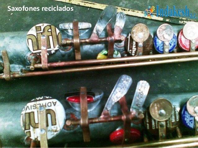 Saxofones reciclados