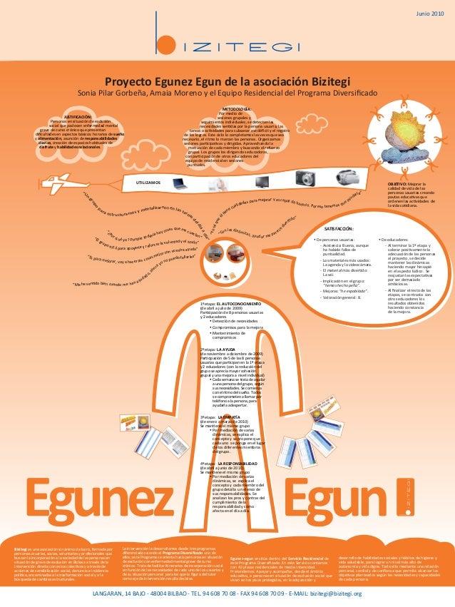 Proyecto Egunez Egun de la asociación Bizitegi Sonia Pilar Gorbeña, Amaia Moreno y el Equipo Residencial del Programa Dive...