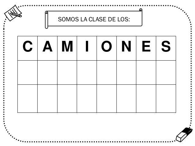 SOMOS LA CLASE DE LOS:  C A M I O N E S  %
