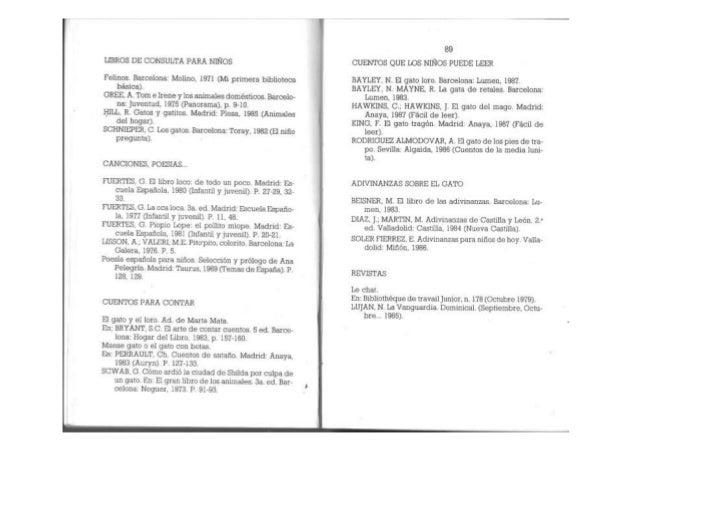 EL GATO: DOSSIER INFORMATIVO, PROPUESTAS DE ACTIVIDADES,  BIBLIOGRAFÍA Y RECURSOS.