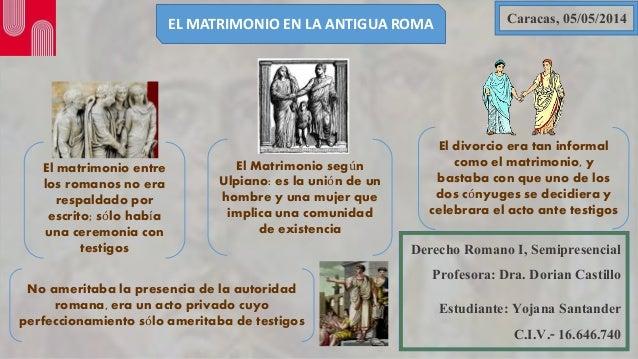 Formula Matrimonio Romano : Proyecto el matrimonio en roma yojana santander der