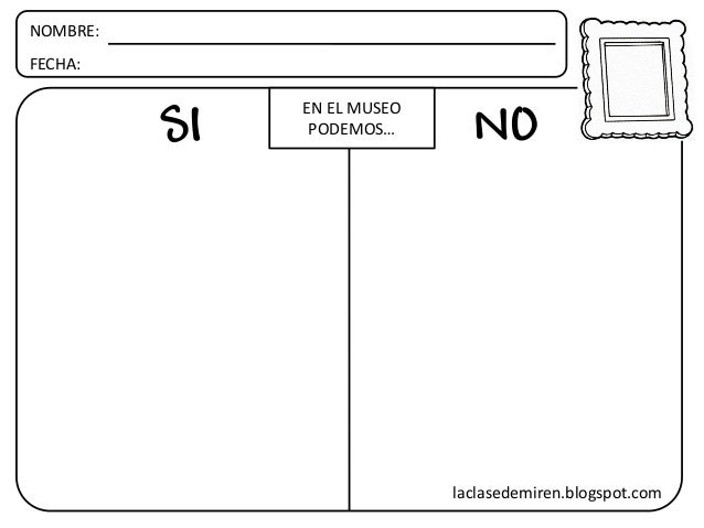 NOMBRE: FECHA: SI NO EN EL MUSEO PODEMOS… laclasedemiren.blogspot.com