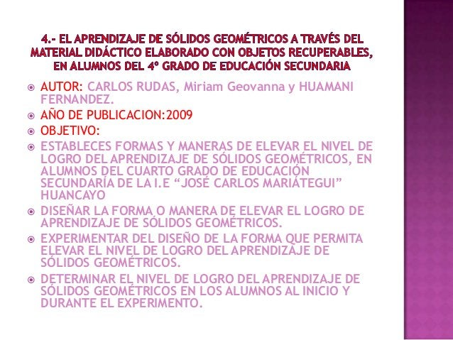    AUTOR: CARLOS RUDAS, Miriam Geovanna y HUAMANI    FERNANDEZ.   AÑO DE PUBLICACION:2009   OBJETIVO:   ESTABLECES FOR...