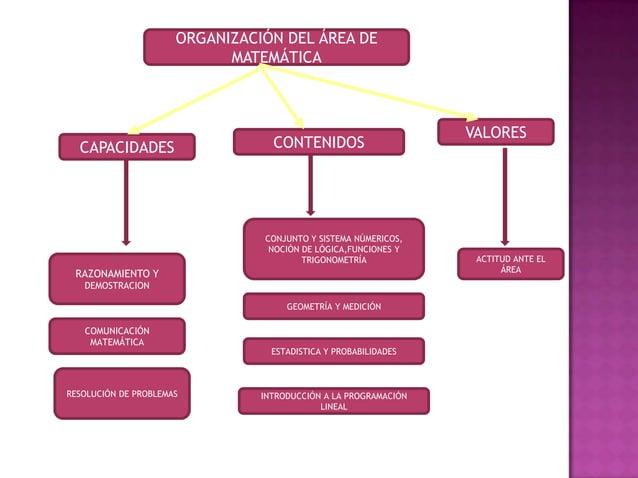 ORGANIZACIÓN DEL ÁREA DE                            MATEMÁTICA                                                            ...