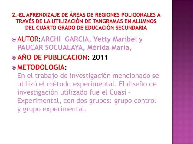  AUTOR:ARCHI    GARCIA, Vetty Maribel y  PAUCAR SOCUALAYA, Mérida Maria, AÑO DE PUBLICACION: 2011 METODOLOGIA:  En el t...