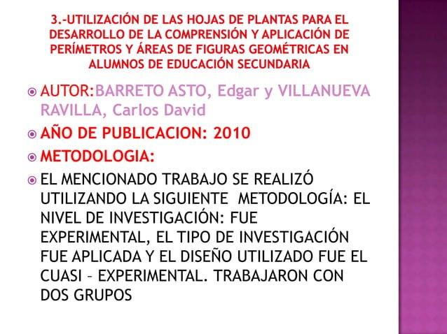  AUTOR:BARRETO   ASTO, Edgar y VILLANUEVA  RAVILLA, Carlos David AÑO DE PUBLICACION: 2010 METODOLOGIA: EL MENCIONADO T...