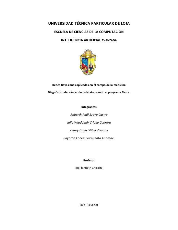 UNIVERSIDADTÉCNICAPARTICULARDELOJA       ESCUELADECIENCIASDELACOMPUTACIÓN             INTELIGENCIAARTIFICIALA...