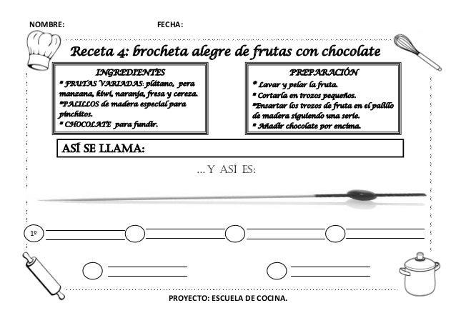 Proyecto escuela de cocina fichas y otros recursos - Grado en cocina ...