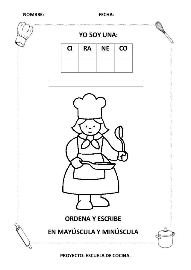 Escuela De Cocina Masterchef   Proyecto Escuela De Cocina Fichas Y Otros Recursos