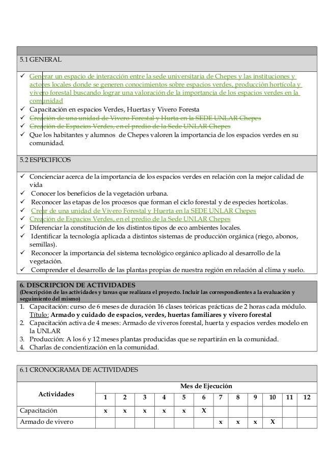 Proyecto extensi n vivero for Importancia de un vivero
