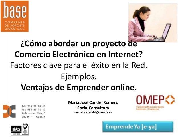 ¿Cómo abordar un proyecto de Comercio Electrónico en Internet? Factores clave para el éxito en la Red. Ejemplos. Ventajas ...