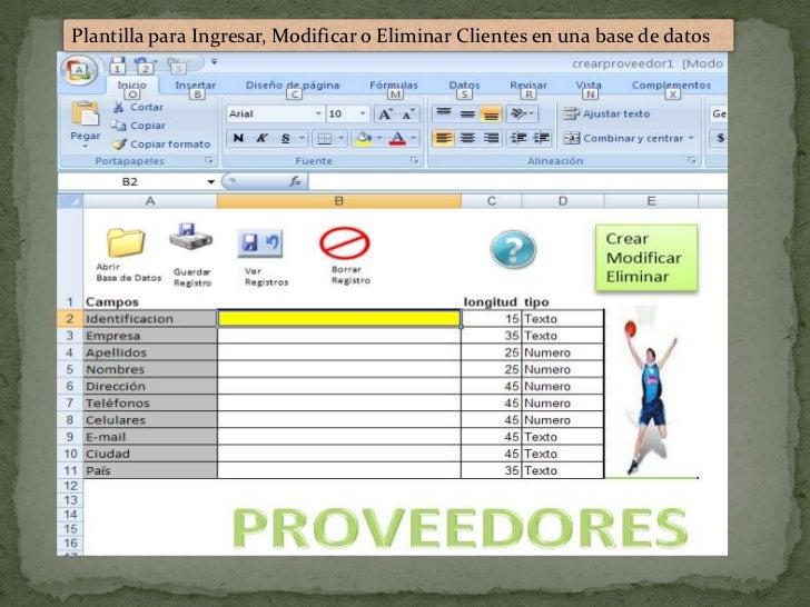 Proyecto factura excel creando clientes y almacenando en una base de …