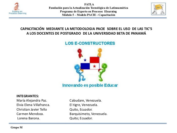 FATLA<br />Fundación para la Actualización Tecnológica de Latinoamérica Programa de Experto en Procesos  ElearningMódulo 5...