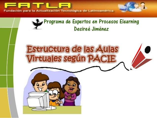 Programa de Expertos en Procesos Elearning Desireé Jiménez