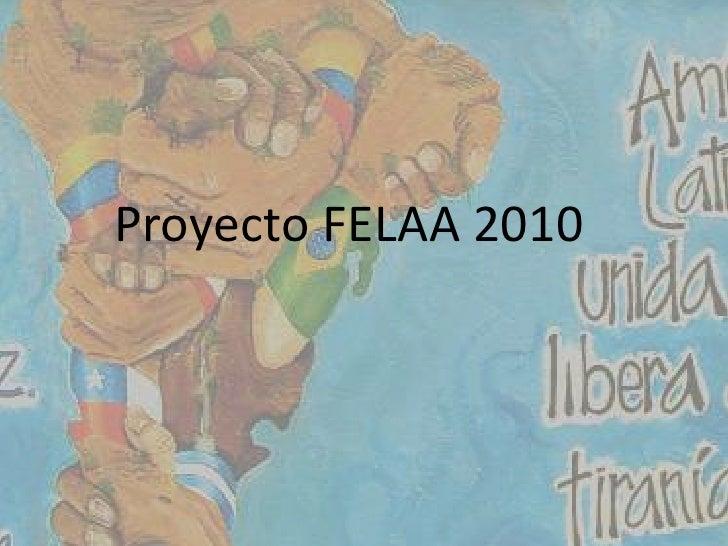 Proyecto FELAA 2010<br />