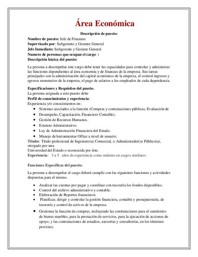 Único Descripción Del Trabajo Del Gerente De Cuentas Por Cobrar ...