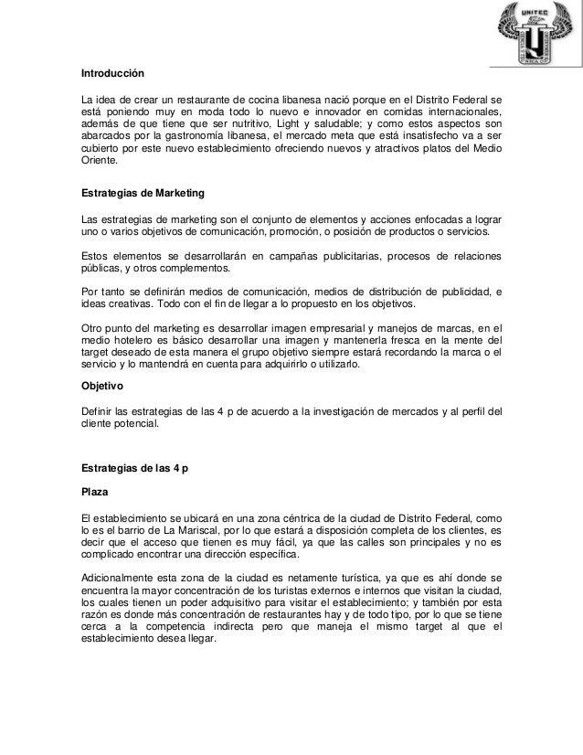 Proyecto final restaurante for Proyecto restaurante pdf