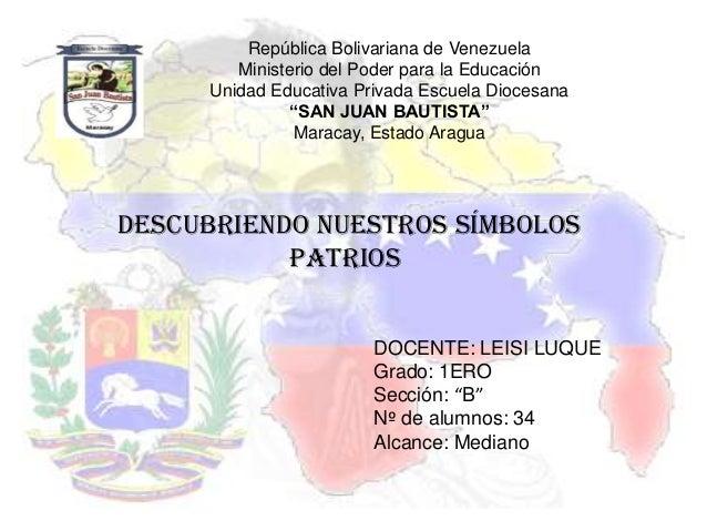 República Bolivariana de Venezuela        Ministerio del Poder para la Educación     Unidad Educativa Privada Escuela Dioc...