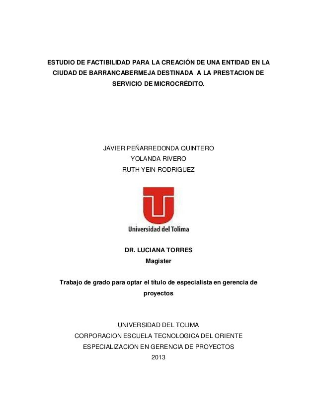 Estudio de factibilidad para la creación de una empresa de servicios microfinancieros en la ciudad de Barrancabermeja Slide 2