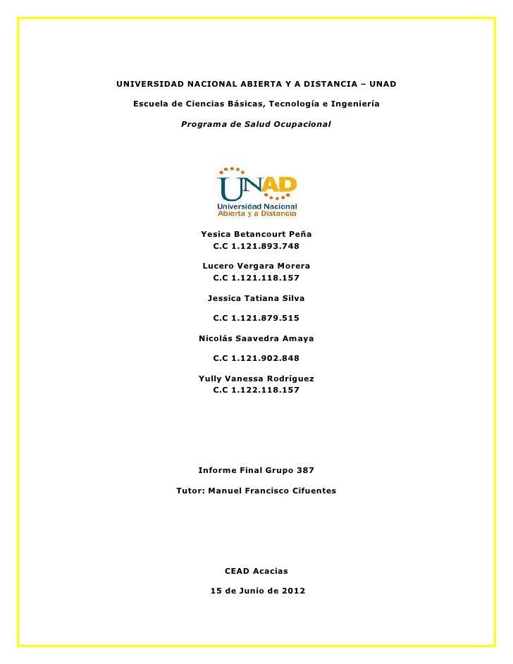 UNIVERSIDAD NACIONAL ABIERTA Y A DISTANCIA – UNAD  Escuela de Ciencias Básicas, Tecnología e Ingeniería            Program...