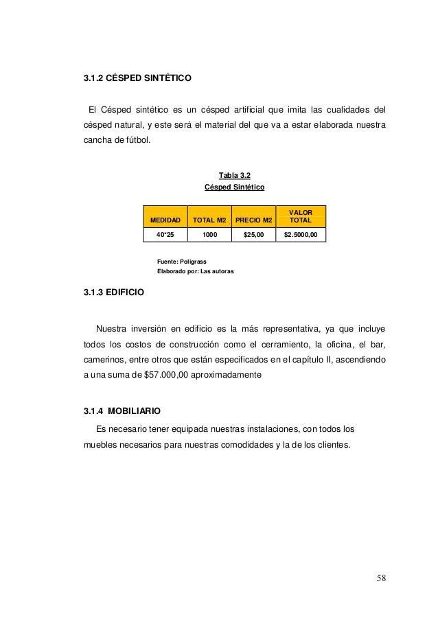 Cancha sinteticaproyecto final cancha sintetica en duran - Conversion ca en m2 ...