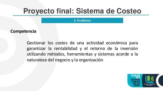 8 proyecto final curso sistema de costeo for Proyecto de construccion de aulas de clases