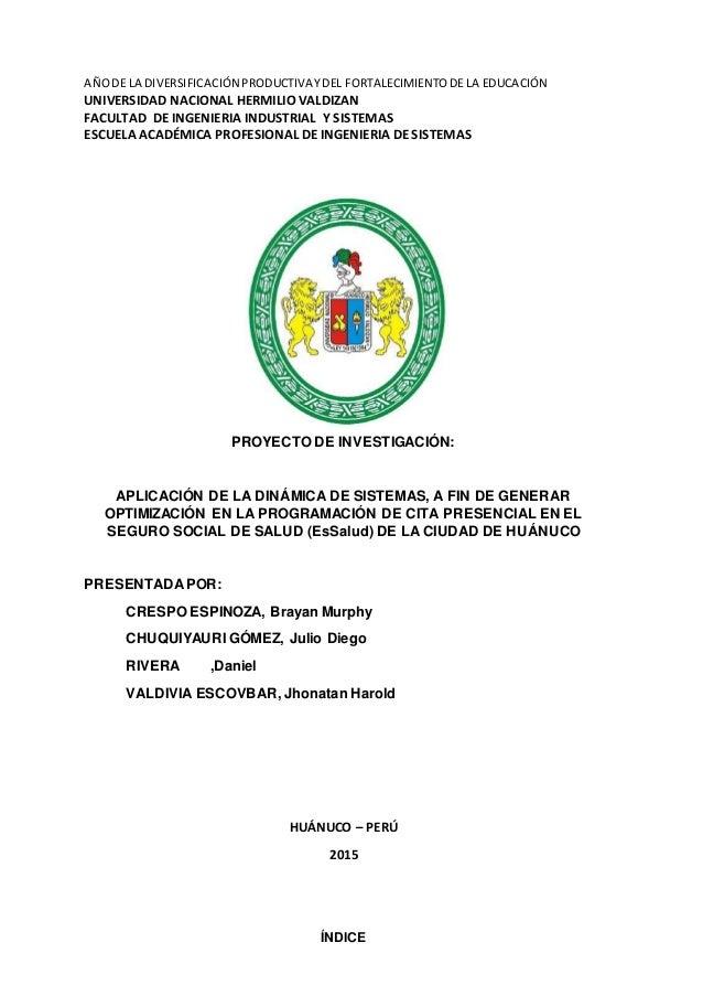 AÑODE LA DIVERSIFICACIÓN PRODUCTIVAYDEL FORTALECIMIENTODE LA EDUCACIÓN UNIVERSIDAD NACIONAL HERMILIO VALDIZAN FACULTAD DE ...