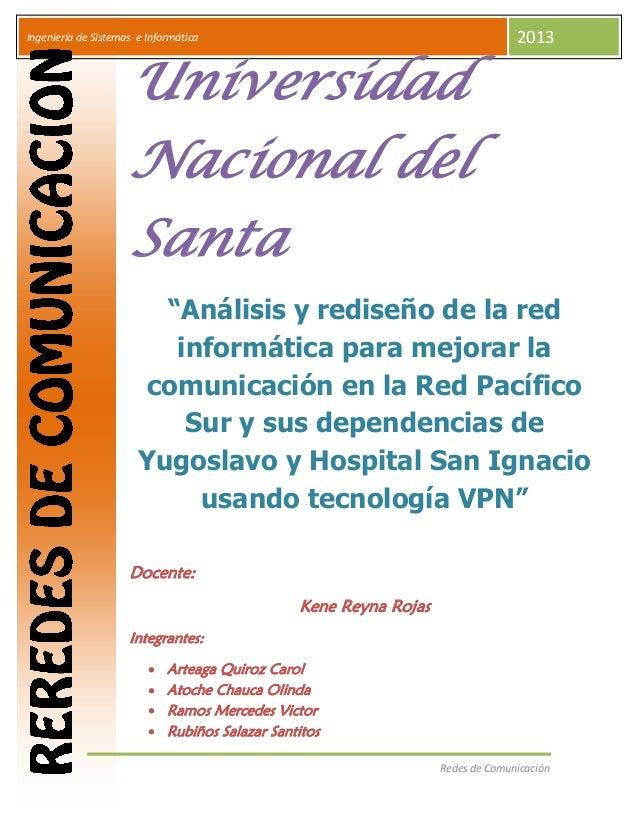 Ingeniería de Sistemas e Informática              I                                                                   2013...