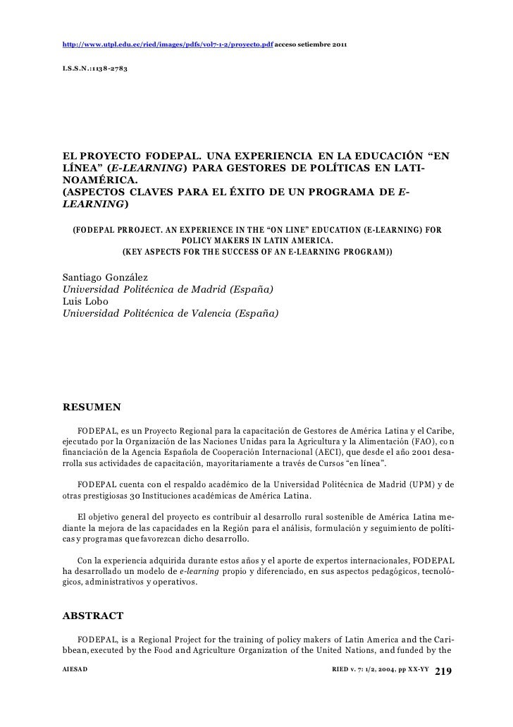 http://www.utpl.edu.ec/ried/images/pdfs/vol7-1-2/proyecto.pdf acceso setiembre 2011I.S.S.N.:1138-2783EL PROYECTO FODEPAL. ...