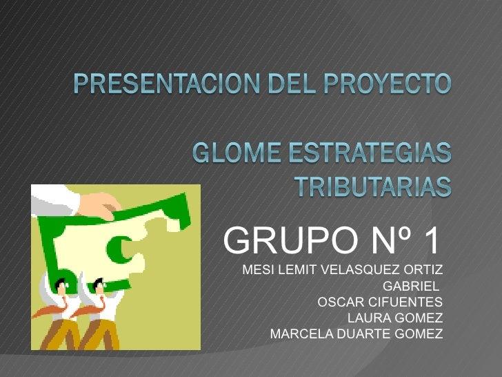 GRUPO Nº 1 MESI LEMIT VELASQUEZ ORTIZ GABRIEL  OSCAR CIFUENTES LAURA GOMEZ MARCELA DUARTE GOMEZ