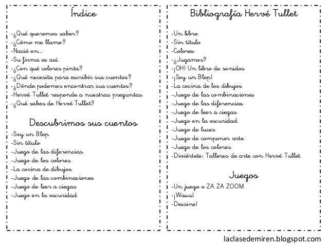 Proyecto Hervé Tullet original