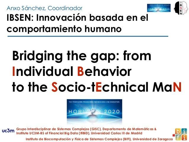 Anxo Sánchez, Coordinador Bridging the gap: from Individual Behavior to the Socio-tEchnical MaN IBSEN: Innovación basada e...