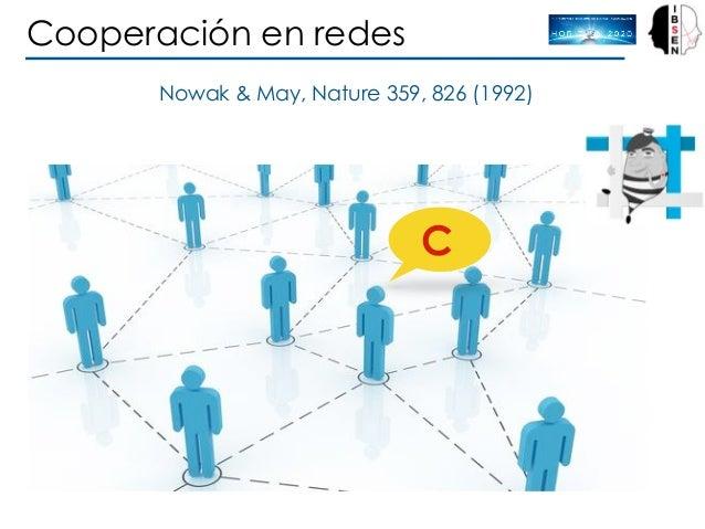 Nowak & May, Nature 359, 826 (1992) Cooperación en redes C