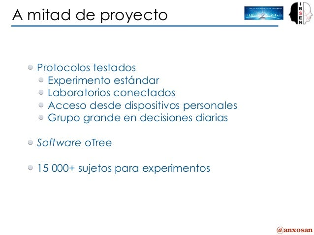 @anxosan Protocolos testados Experimento estándar Laboratorios conectados Acceso desde dispositivos personales Grupo grand...