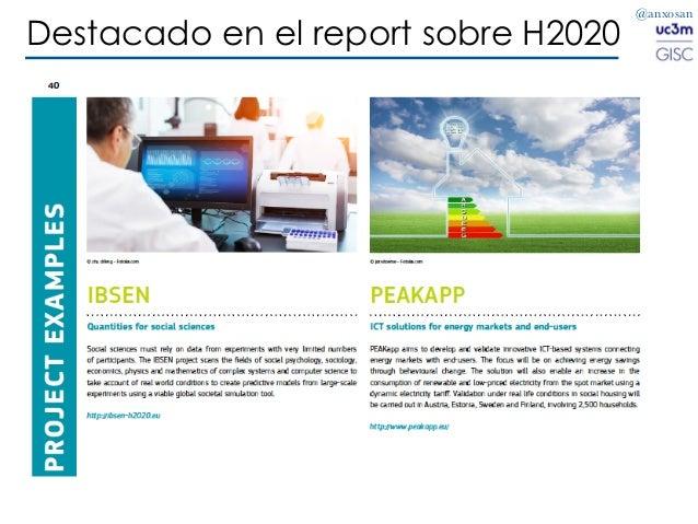 @anxosan Destacado en el report sobre H2020