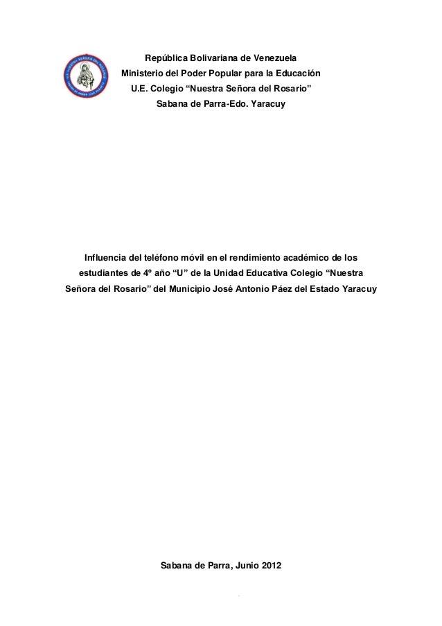 Proyecto influencia del telefono movil en el rendimiento for Ministerio de seguridad telefonos internos