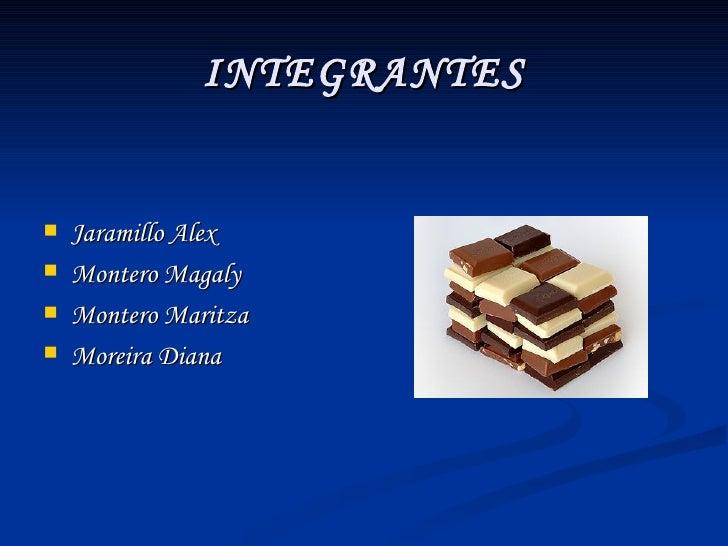 INTEGRANTES <ul><li>Jaramillo Alex </li></ul><ul><li>Montero Magaly </li></ul><ul><li>Montero Maritza </li></ul><ul><li>Mo...