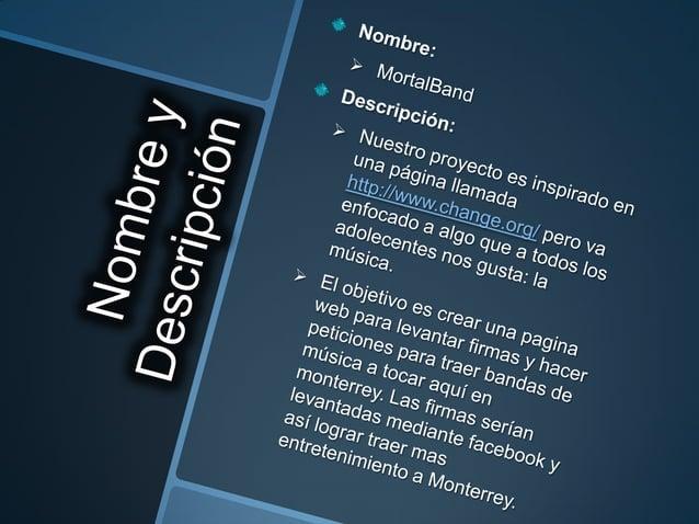 Encargada de Proyecto:  Patricia Programación:  Ricardo  Alejandro Diseño:  Eduardo  Patricia Documentación:  Gisell...