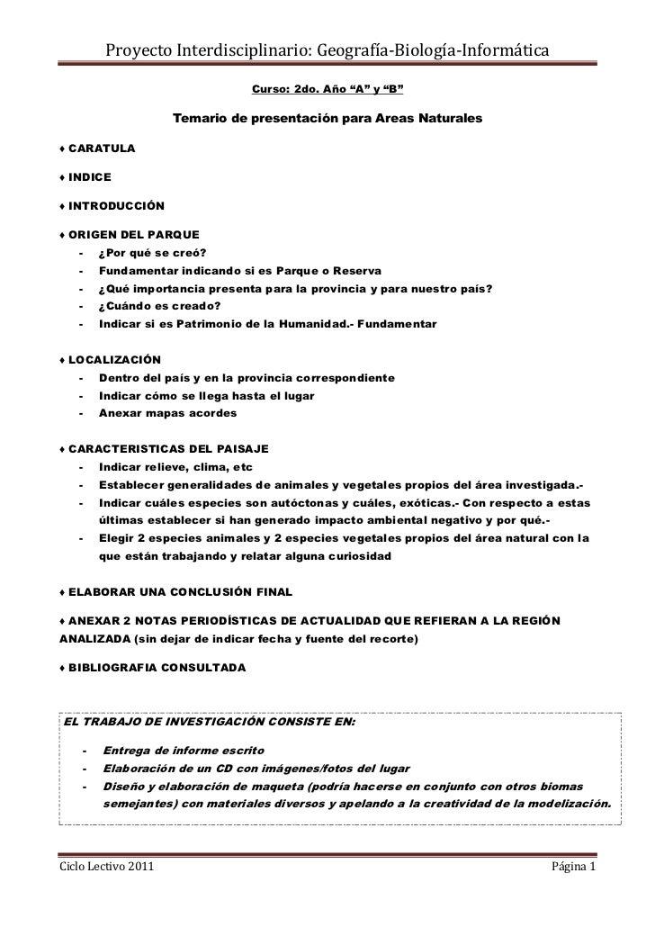 """Curso: 2do. Año """"A"""" y """"B""""<br />Temario de presentación para Areas Naturales<br />♦ CARATULA<br />♦ INDICE<br />♦ INTRODUCC..."""