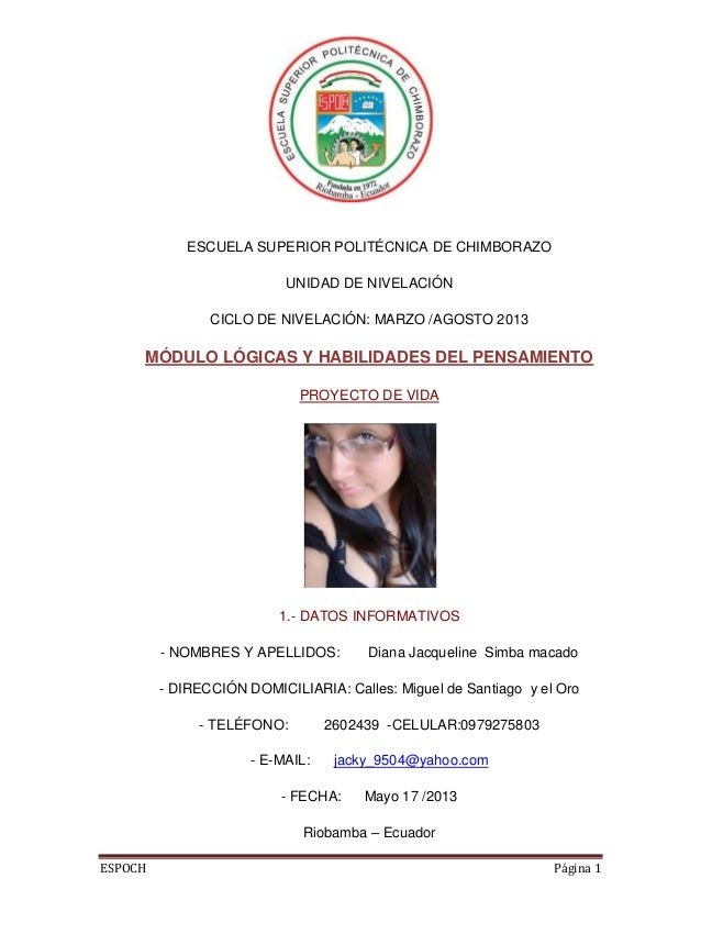 ESPOCH Página 1ESCUELA SUPERIOR POLITÉCNICA DE CHIMBORAZOUNIDAD DE NIVELACIÓNCICLO DE NIVELACIÓN: MARZO /AGOSTO 2013MÓDULO...